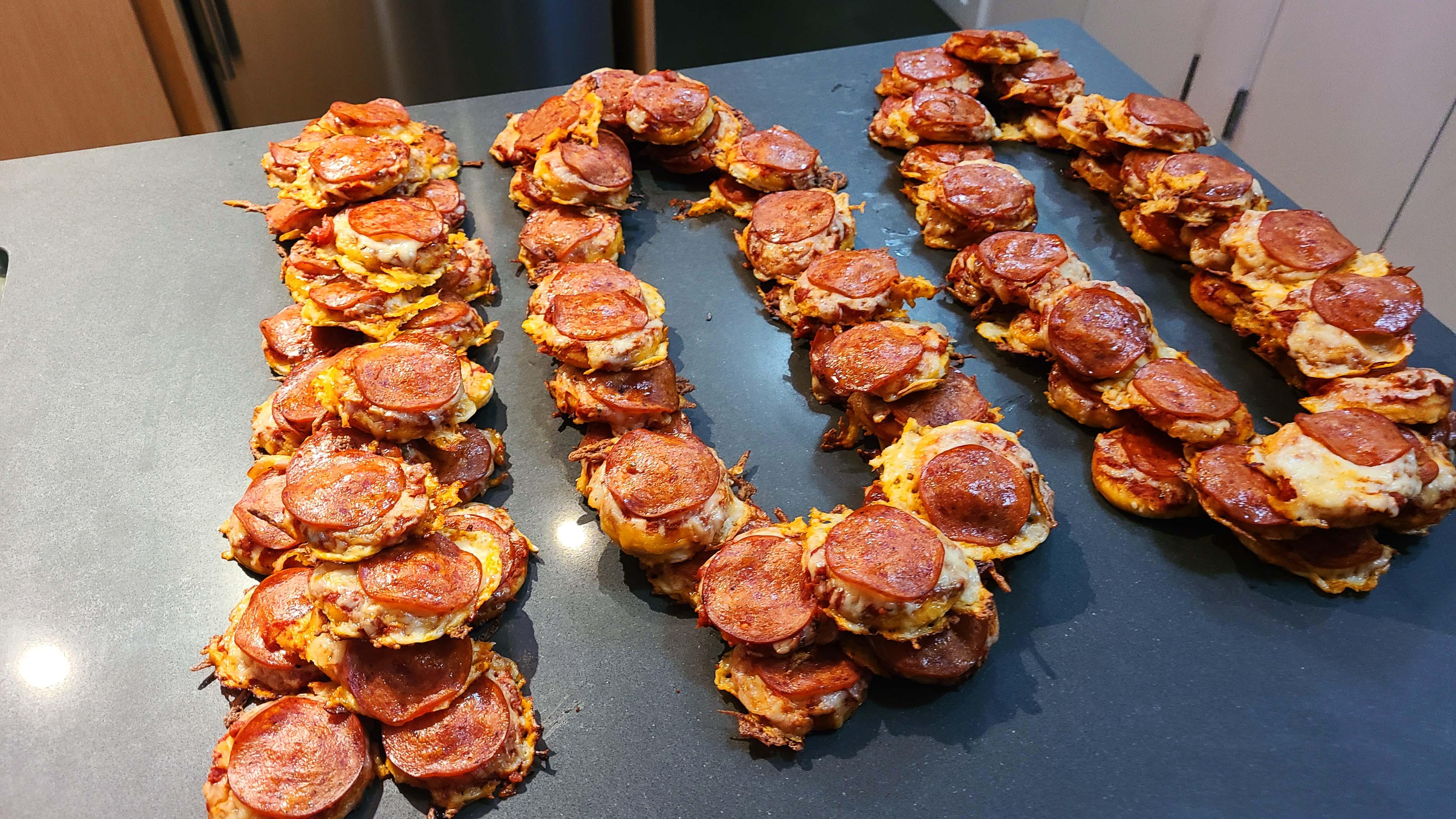 100 Sourdough Mini Pizzas