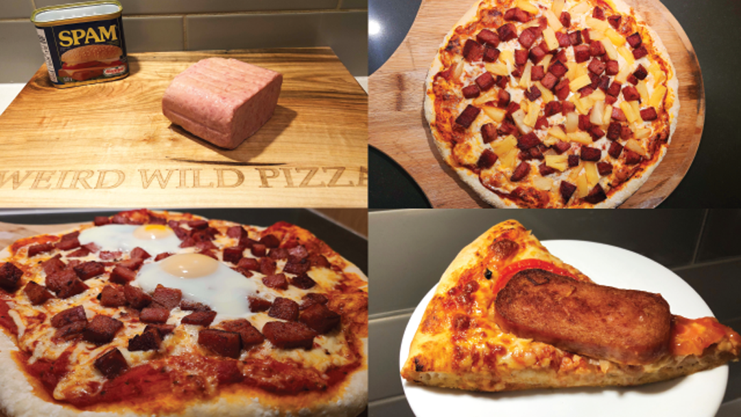 3 Spam inspired pizzas